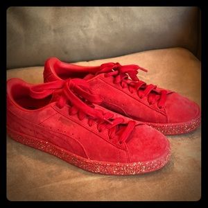 Puma Red Suede sneakers